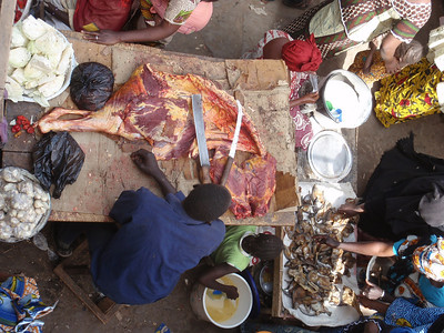 299_Mopti  The Vast Public Market  Meat for Sale