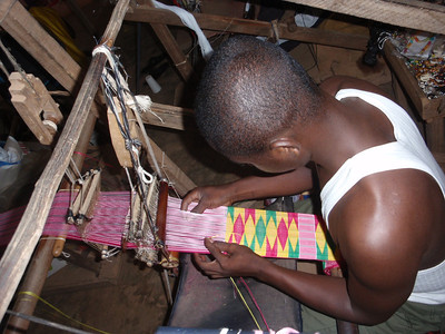 069_Bonwire Craft Village  Kente Cloth Weaving Centre