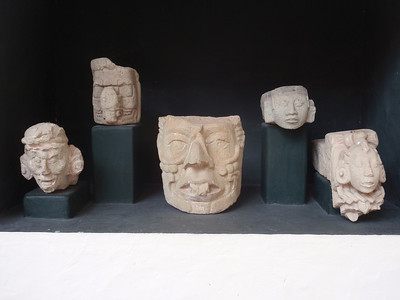 260  The Mayan Sculpture Museum  Water Bird and Stream