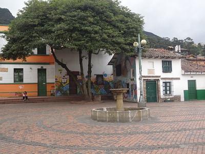 034_Bogota  Plaza Chorro de Quevedo  The square where Bogota was actually founded