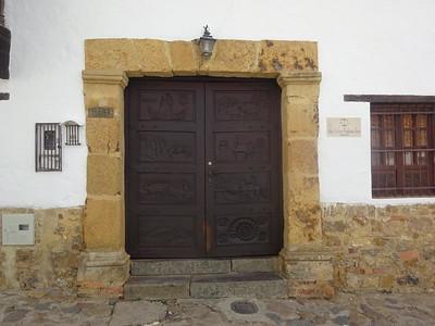 185_Villa de Leyva  Massive Front Door
