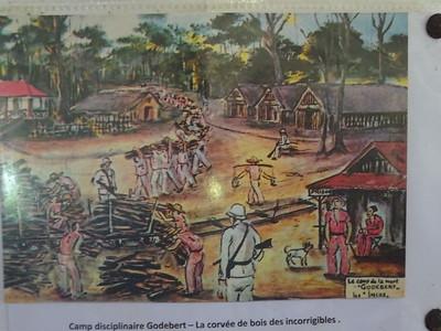 098_Les Bagnes de Cayenne  Camp disciplinaire Godebert  La corvée de bois des incorrigibles