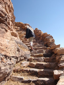 186_Al-Zakatain Fort  The Stone Stairs going to the Upper Level