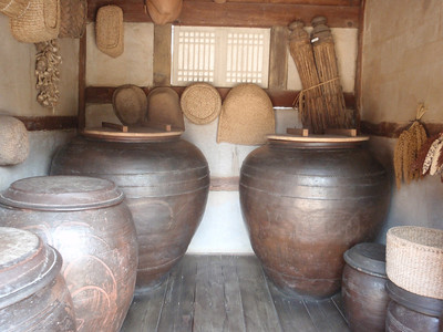 202_Korean Folk Village  Manor House in the Southern Part  A large mansion  Soya Sauce Jars jpg