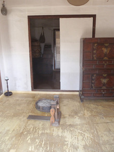 210_Middle Class Farmer's House in the Southern Part  Inner and outer wings are paralleled  The wide wooden floor allows to be cool in summer time jpg