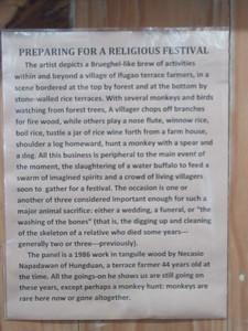 664_Banaue  Museum of Cordilleran Sculptures  Preparing for a Religious Festival