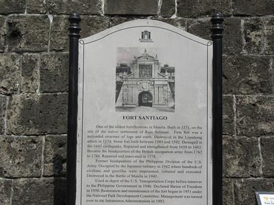 022_Manila  Old Intramuros  Fort Santiago  1571  Destruction in 1945