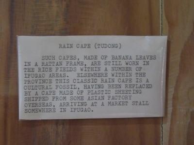 651_Banaue  Museum of Cordilleran Sculptures  Rain Cape