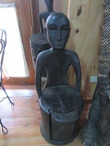 672_Banaue  Museum of Cordilleran Sculptures  Three in One Idol, Seat, Bin Sculpture