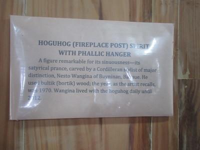 660_Banaue  Museum of Cordilleran Sculptures  Fireplace Post Spirit, with Phallic Hanger
