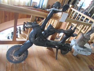 676_Banaue  Museum of Cordilleran Sculptures  Racing with Wooden Scooters
