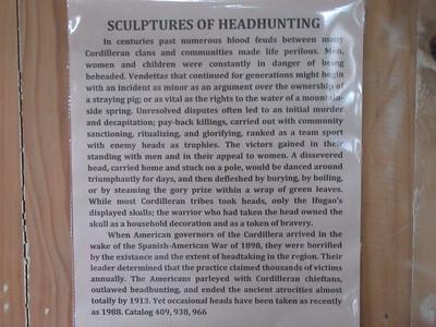 656_Banaue  Museum of Cordilleran Sculptures  Sculpture of Headhunting