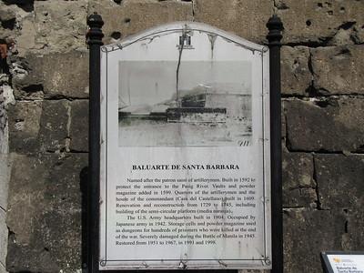 034_Manila  Fort Santiago  Baluarte De Santa Barbara  1592  Built to protect the entrance to the Pasig River