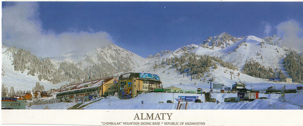 68_Almaty, Chimbulak Mountain Skiing Base  A vertical drop of 900m