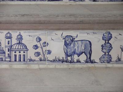 088_Plaza de Toros  Stairs to Upper Balcony  Ceramics Details