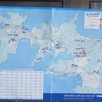074_Waiheke Island  Map  An area of just 90 sq km and a coastline of 133,5 km  Population 10,000 (peak season)